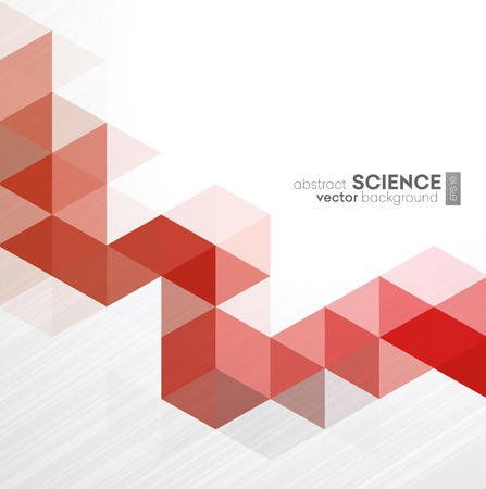 red and white: Vector Abstract geometric background with triangles - For business, corporate design, cover, booklet, brochure.
