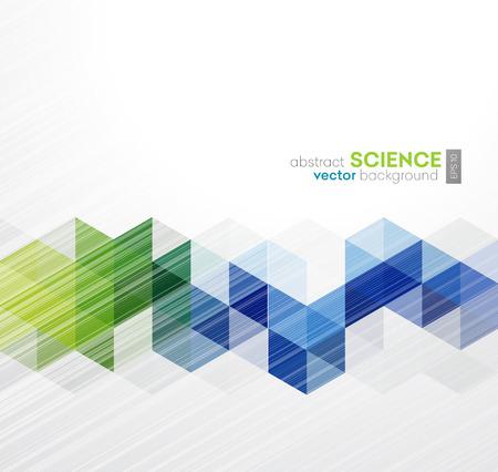 Vector Abstracte geometrische achtergrond met driehoeken - Voor het bedrijfsleven, corporate design, dekking, boekje, brochure. Stock Illustratie