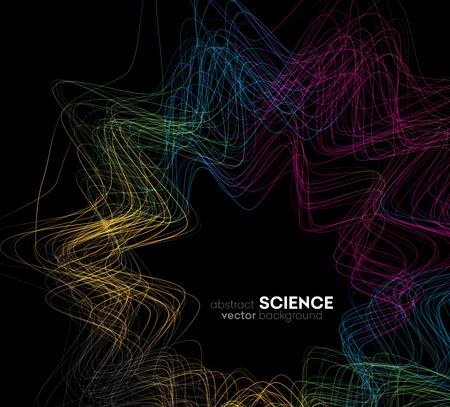 Fondo abstracto del vector, ilustración ondulado futurista