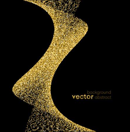 glam: Gold sparkles on white background. Gold glitter background. Illustration