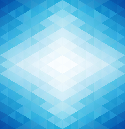 parallelepiped: Retro pattern of blue geometric shapes. Colorful mosaic banner. Geometric Retro triangle background Illustration