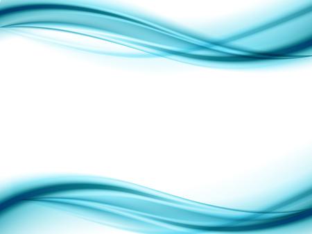 추상 부드러운 컬러 웨이브 벡터. 곡선 흐름 블루 모션 그림