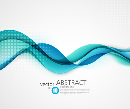 aqua effect: Abstract smooth color wave vector. Curve flow blue motion illustration