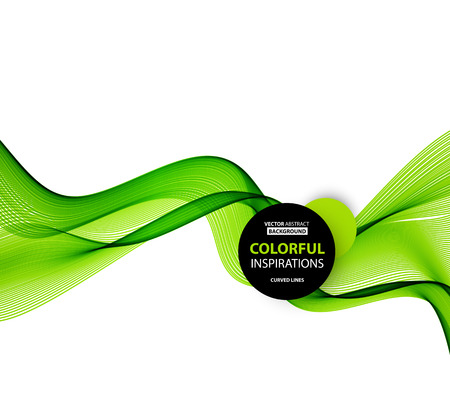 lineas onduladas: Resumen l�neas onduladas de color verde. Fondo colorido del vector