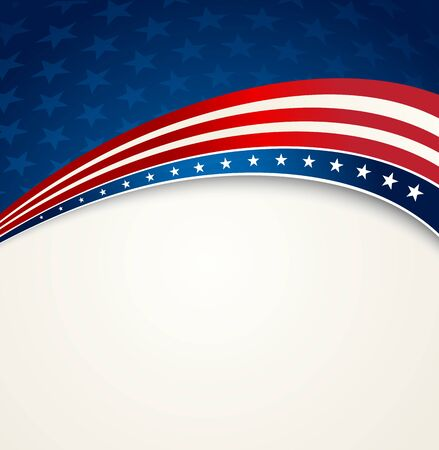 patriotic background: American Flag, Vector patriotic background for Independence Day, Memorial Day