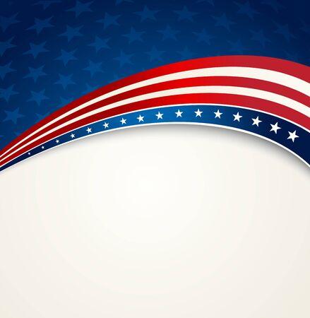 Drapeau américain, vecteur de fond patriotique pour le jour de l'indépendance, Memorial Day Vecteurs