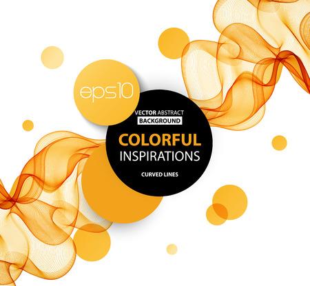 Résumé des lignes ondulées orange. Colorful vecteur de fond Banque d'images - 51754463
