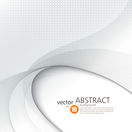grey: Abstract vector background, smooth waved lines for brochure, website, flyer design.  illustration Illustration