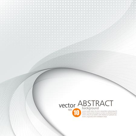 curves: vector de fondo abstracto, líneas onduladas suaves para folleto, página web, diseño de volante. ilustración