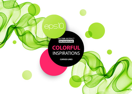abstract green: Abstract green wavy lines.  Colorful vector background Illustration