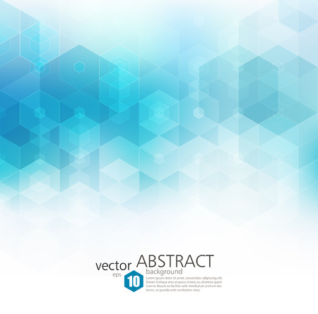 blue and white: Vector Abstract geometric background. Template brochure design. Blue hexagon shape