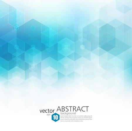 Vector Resumen de fondo geométrico. folleto de diseño de la plantilla. forma hexagonal azul Ilustración de vector