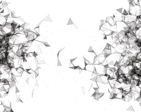 Wireframe maglia sfondo poligonale. forma astratta con linee collegate e punti. Basso sfondo poli. Illustrazione vettoriale.