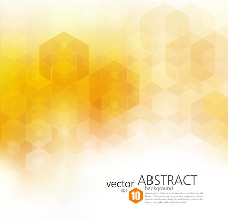 Vector Abstract geometric background. Template brochure design. Orange hexagon shape