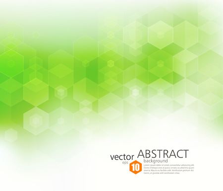 Vector Abstract geometric background. Template brochure design. Green hexagon shape