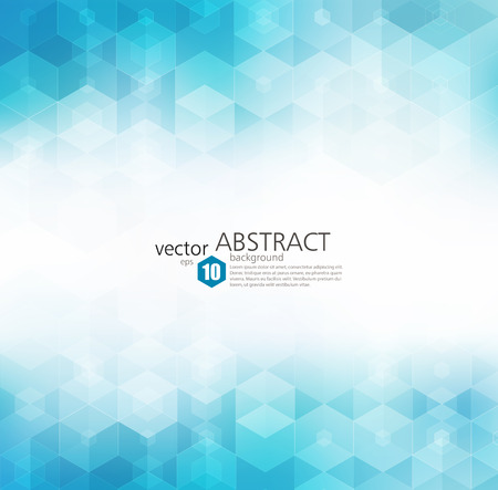 Vector Abstract sfondo geometrico. design brochure modello. forma esagonale blu