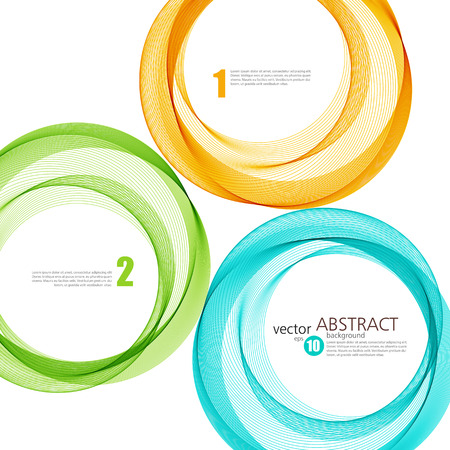 Abstract vector background, color  transparent ring illustration Illustration