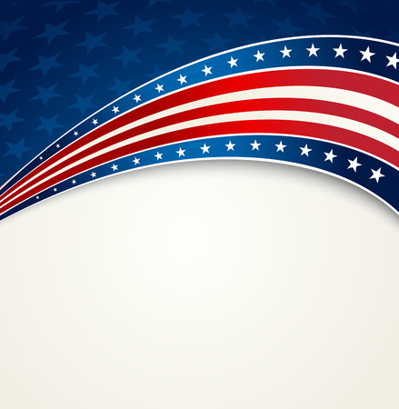 American Flag, Vector patriottica sfondo per Independence Day, il Memorial Day
