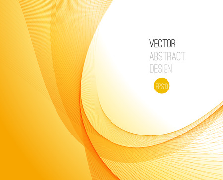 yellow orange: Abstract smooth color wave vector. Curve flow orange motion illustration Illustration