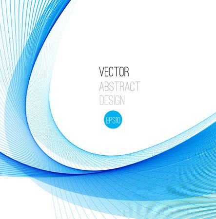 design vector: Abstract vector background, blue waved lines for brochure, website, flyer design.  illustration