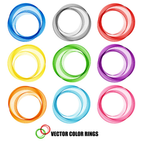color ring: Abstract vector background, color  transparent ring illustration Illustration