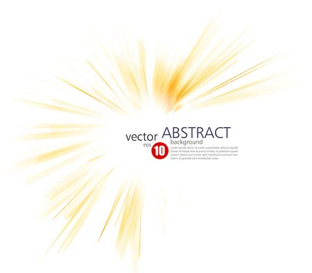 rayos de sol: Extracto de la tecnología o la luz de fondo del negocio y de la ciencia. Ilustración del vector. Explosión de la naranja. Resumen sol