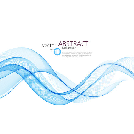 blue lines: Abstract vector background, blue waved lines for brochure, website, flyer design.  illustration