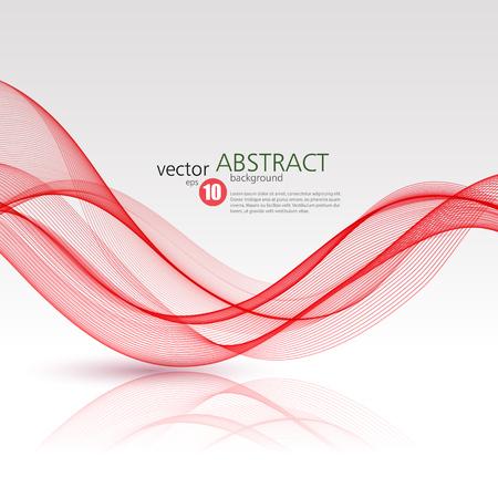 waved: Abstract vector background, red waved lines for brochure, website, flyer design.  illustration Illustration