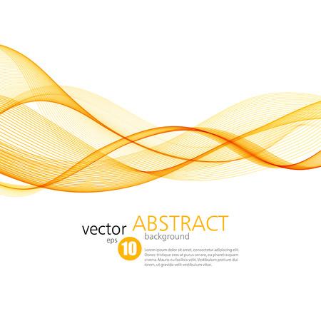 lines vector: Abstract vector background, orange waved lines for brochure, website, flyer design.  illustration Illustration