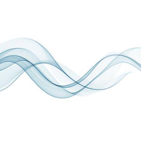 waved: Abstract vector background, smooth waved lines for brochure, website, flyer design.  illustration Illustration