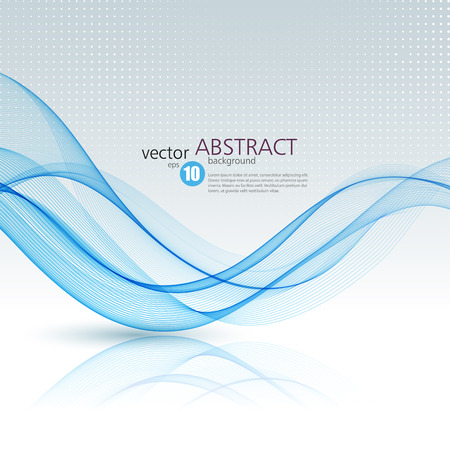 graphic: Abstract vector background, blue waved lines for brochure, website, flyer design.  illustration