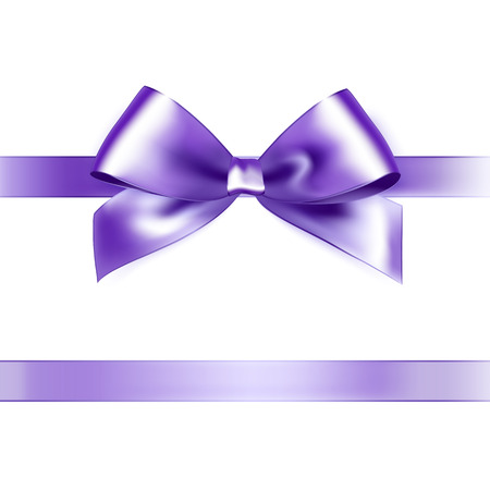 pink satin: Shiny purple satin ribbon on white background. Vector