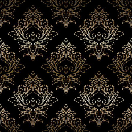 Damask seamless floral pattern. Royal wallpaper. Vector illustration. EPS 10 矢量图像