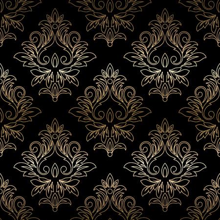 brocade: Damask seamless floral pattern. Royal wallpaper. Vector illustration. EPS 10 Illustration