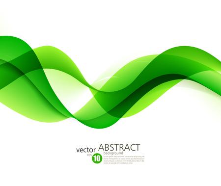 Resumen líneas onduladas de color verde. Fondo colorido del vector