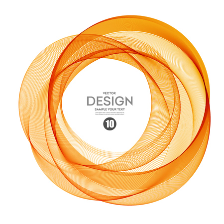 orange yellow: Abstract vector background, color  transparent ring illustration eps10