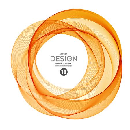 Abstracte vector achtergrond, kleur transparant ring illustratie eps10 Stock Illustratie
