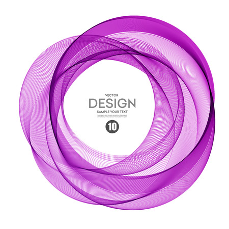 maelstrom: Abstract vector background, round futuristic wavy illustration . Purple color Illustration