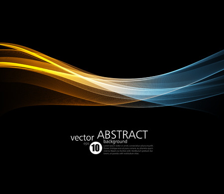 Abstract vector background, fractal futuristic wavy illustration