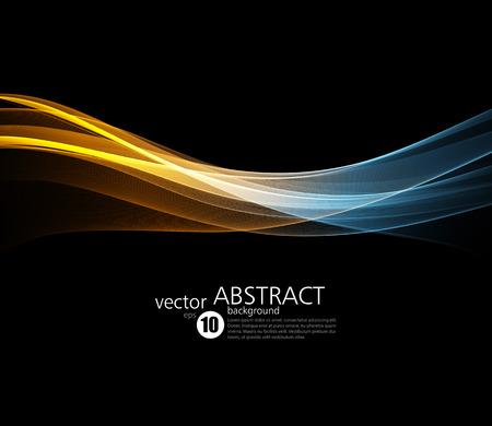 Abstracte vectorachtergrond, fractal futuristische golvende illustratie