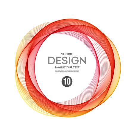 ringe: Abstract vector Hintergrund, Farbe transparent Ring Illustration Illustration
