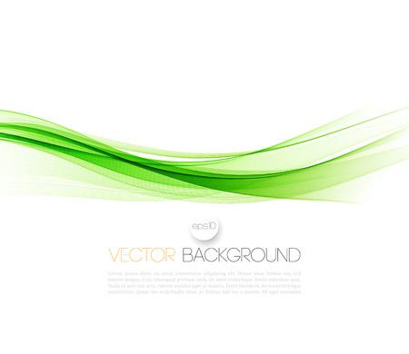 Zusammenfassung grünen Wellenlinien. Bunte Vektor-Hintergrund
