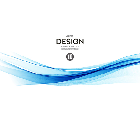 business technology: Abstract vector background, blue waved lines for brochure, website, flyer design.  illustration eps10