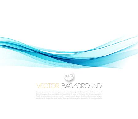 抽象的なベクトル背景、青手を振ってライン パンフレット、ウェブサイト、フライヤーのデザインです。 図  イラスト・ベクター素材