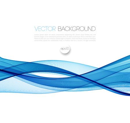 추상적 인 벡터 배경, 블루 브로셔, 웹 사이트, 전단지 디자인을위한 라인을 흔들었다. 삽화 일러스트