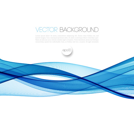Abstract vector background, blue waved lines for brochure, website, flyer design.  illustration Фото со стока - 52422544
