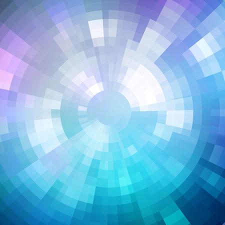 빛나는 모자이크 패턴의 추상적 인 배경. 디스코 스타일. 디자인 파티 전단, 리플릿 및 나이트 클럽 포스터. 파란색