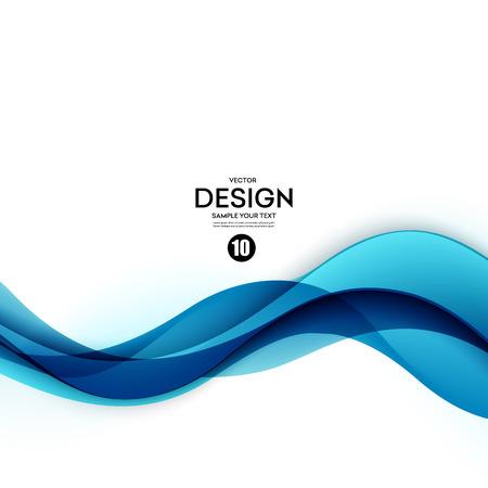 抽象的なベクトル背景、青手を振ってライン パンフレット、ウェブサイト、フライヤーのデザインです。 図 eps10