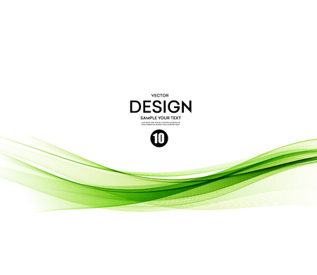 Abstract vector background, green waved lines for brochure, website, flyer design.  illustration 向量圖像