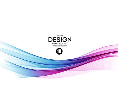 flow: Abstract vector background, blue and violet waved lines for brochure, website, flyer design.  illustration